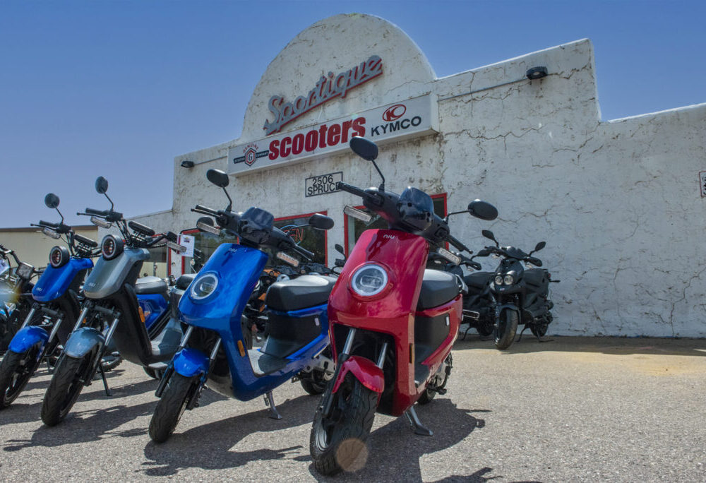 Electric Scooters at Sportique Boulder